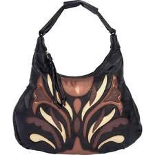 New Black Brown Genuine Leather Handbag Purse Ladies Womens Tote Shoulder Bag