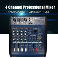 4 Channel USB Mixer Bar KTV Stage 48V Professional Mixing Power Amplifier   US
