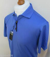 Mens Pebble Beach Golf Polo Shirt Short Sleeve Moisture Wicking White Blue S M L