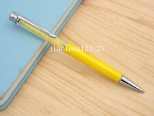 yellow Colorful crystal pen silver Trim aluminum fashion Ballpoint Pen
