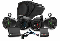 MTX RZR-14RC-THUNDER5 Front+Tower Speakers+Sub+Amps For Polaris RZR Ride Command