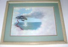 Ocean View BONSAI TREE,Cloudy Blue Sky,Rocky Cliff Seascape Art Print By: GREGG