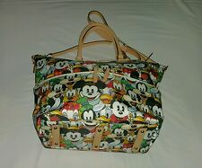 Disney Dooney & Bourke MICKEY MOUSE AND FRIENDS FACES  SATCHEL--- VERY RARE NWT
