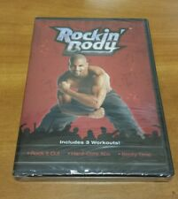 Rockin' Body: Rock It Out, Hardcore Abs, Booty Time (DVD) Shaun T workout NEW