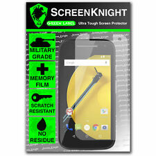ScreenKnight Motorola Moto E 2nd Gen SCREEN PROTECTOR Military Shield