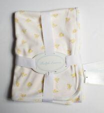 Polo Ralph Lauren toddler/infant reversible baby Bear blanket one size 3m-9m