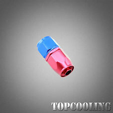 Universal AN10 Straight Swivel Hose End Fitting Adapter Aluminum Red Blue