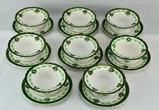 C.T. Germany (Carl Tielsch) Set of 8 ice cream cups and saucers  (BI#MK/180302)