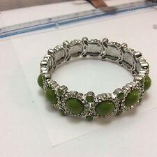 lia sophia Sparkler crystal  Stretch Bracelet - Grass, green