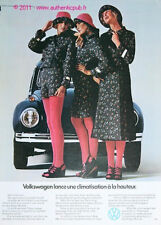 Publicite VW COCCINELLE COX BETTLE VOLKWAGEN 1974 FRENCH CAR AD PUB