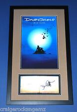 David Gilmour Pink Floyd Signed AUTOGRAPH PSA/DNA On an Island FRAMED