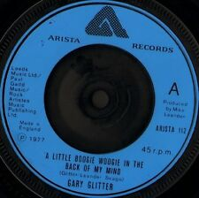"""GARY GLITTER a little boogie woogie in the back 7"""" WS EX/ blue moulded label"""