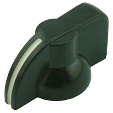 Pointer Potentiometer Knob Black Hard Plastic (2 Pack)