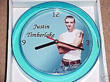 "Justin Timberlake Novelty Wall Clock 7"" New ""L@K"""