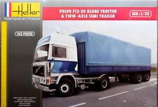 Volvo F12-20 Globe Trotter & Semi Trailer Truck 1:32 Model Kit Heller 81703