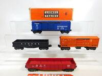 CD748-2# 4x Lionel Spur 0 US-Güterwagen: 6468 + 3656 + 6462 + 6012, 2. Wahl/gut