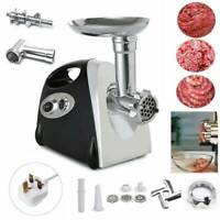 2800W Electric Meat Grinder Mincer Aluminum Sausage Maker Filler Kitchen UK Plug