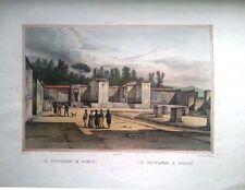 ITALY/ITALIA, POMPEYA, Litografía original de Cucinello, ca, 1830