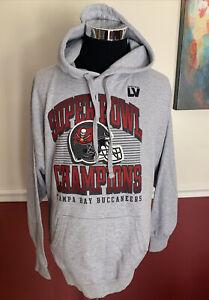 "Tampa Bay Buccaneers ""Super Bowl Champions"" Hoodie Men's Size Large"