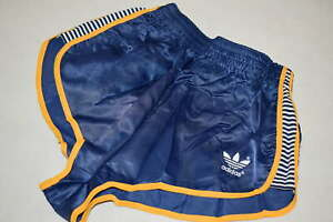 Adidas Shorts Short Hose Pant Hot Pant Vintage Sprinter 80s Nylon Glanz Woman 36