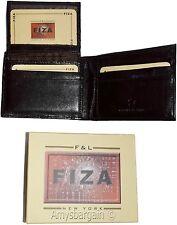 Men's wallet, Billfold Leather Wallet. 9 cards Brown Buff leather wallet in box