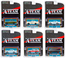 """Hollywood Special Edition """"The A-Team"""" Set Of 6 Cars 1/64 By Greenlight 44865"""