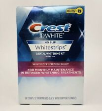 Crest 3D Whitestrips Monthly Whitening Boost 6 Treatments 12 Strips No Slip