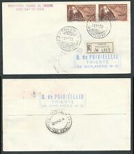 1952 TRIESTE A FDC MASSAIA TIMBRO DI ARRIVO - BF-3