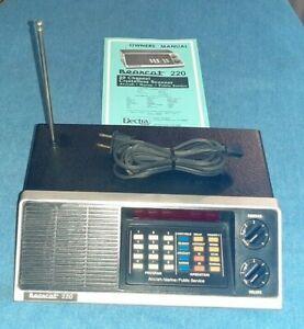 Vintage Bearcat 220 VHF Lo Hi UHF Programmable Scanner Tested Works Excellent