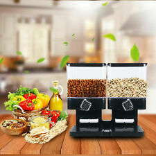 Dry Food Dispenser Dual Control Food Storage Container for Cereal Trail Mix Nuts