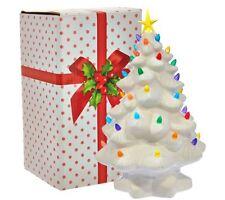 "Mr. Christmas 14"" Nostalgic Tabletop Tree w/ Super Bright LED - White x9043s"