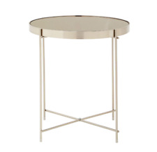 Mirrored Round Contemporary Side Table - Coffee Table - End Table (Large)