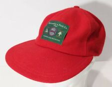 Vintage Abercrombie & Fitch Co Adirondack Trail Guide Red Hat Cap