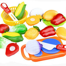 Plastic Kitchen Toy Fruit Vegetable Cut Kid Child Pretend Play Cooking Game Kit
