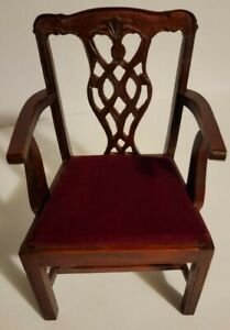 Antique Doll, Salesman Sample Chairs Chippendale Style