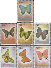 Nicaragua 2717-2723 (complète edition) neuf avec gomme originale 1986 Papillons