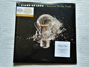 """KINGS OF LEON """" BECAUSE OF THE TIMES """" 2 LP CLEAR/WHIT VINYL NUMBERED 164 SEALED"""