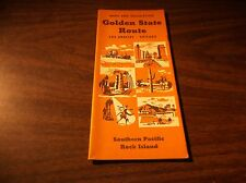OCTOBER 1952 SOUTHERN PACIFIC-ROCK ISLAND GOLDEN STATE ROUTE BROCHURE