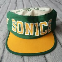 Vintage 90s Seattle Supersonics Sonics Pillbox Hat Cap Snapback Rare