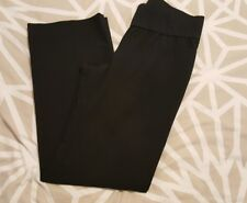 UNDER BUMP BLACK MATERNITY TROUSERS SIZE 8R GAP