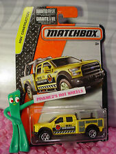 2016 Matchbox #38 '15 FORD F-150∞Yellow; IAN M.K.∞2016 MBX CONSTRUCTION