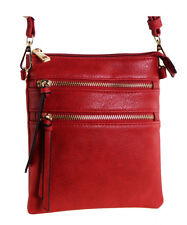 New Functional Multi Pocket Crossbody Bag 80808A RED ,WITH TAGS , READY TO SHIP