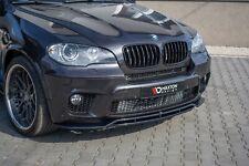 CUP Spoilerlippe SCHWARZ für BMW X5 E70 FL M-Paket Frontspoiler Spoilerschwert