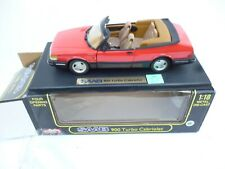 1:18 ANSON SAAB 900 TURBO CABRIOLET  IN FERRARI RED V  NEAR  MINT BOXED