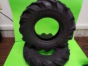 (2) 4.80-8 4.80x8 / 4.00-8 4.00x8 4PR AG Tbls Lug Garden Tiller Snow Tires