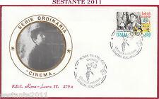 ITALIA FDC ROMA LUXOR 379 a CINEMA VITTORIO DE SICA LADRI BICICLETTE 1988 Z398