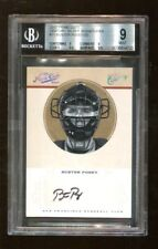 Buster Posey 2012 Panini Prime Cuts Century Silver Signatures #11 Auto BGS 9