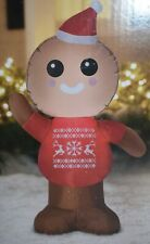 Holiday Time Airblown Inflatable Gingerbread Man 4ft Tall Lighted IndoorOutdoor