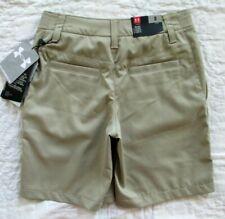 Under Armour Khaki Boys Youth Size 8 Golf Shorts Loose