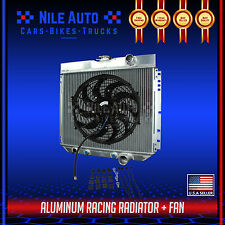 "3 ROW ALUMINUM RADIATOR FOR 63-70 FORD FAIRLANE/FALCON/GALAXIE SEDAN V8+14"" FAN"